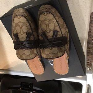 Ladies Coach brown signature shoes